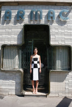 Load image into Gallery viewer, Damier bustier dress