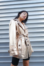 Load image into Gallery viewer, Gold genuine leather jacket