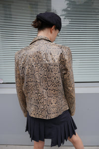 Leather python jacket
