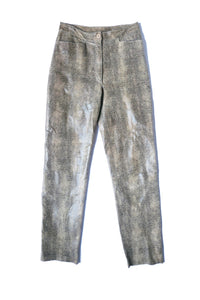 Leather snake pants