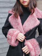 Load image into Gallery viewer, Pink fur coat