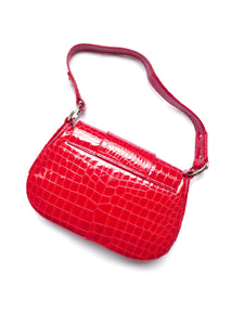 Patent croco bag