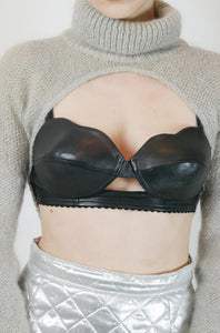 Leather bra top