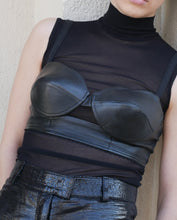 Load image into Gallery viewer, Leather bra top