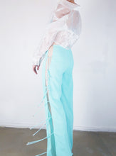 Load image into Gallery viewer, Turquoise cut out pants