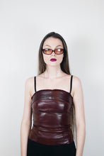 Load image into Gallery viewer, Leather fur top