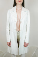 Load image into Gallery viewer, White leather jacket