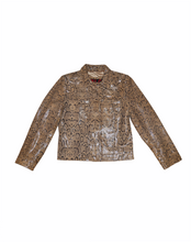 Load image into Gallery viewer, Leather python jacket