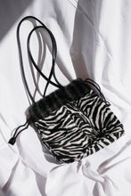 Load image into Gallery viewer, 90s fluffy zebra bag