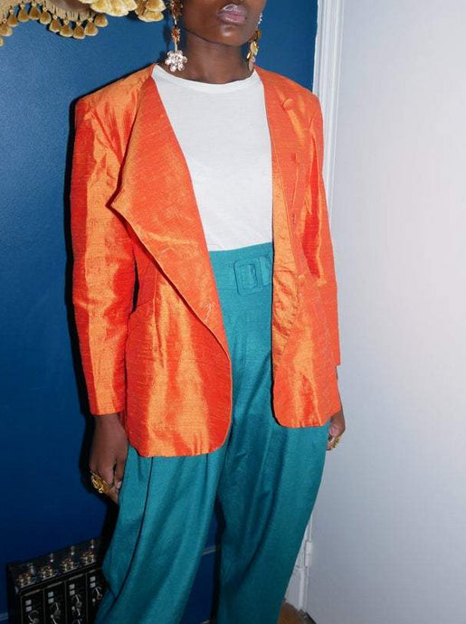 Wild silk orange jacket