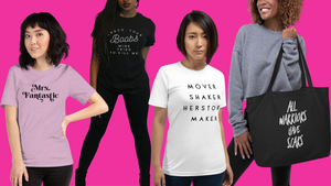 EMPOWERHAUS is a feminist apparel brand by breast cancer survivor and Wisconsin artist, Emily Hopper; focusing on hand lettered motivational, conversational quotes and illustrated graphics for women that change the conversation on vital topics.