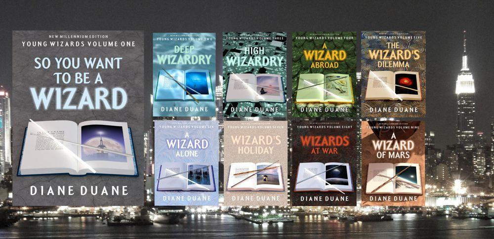 Complete at last: repackaging / reformatting on the Young Wizards New Millennium Editions