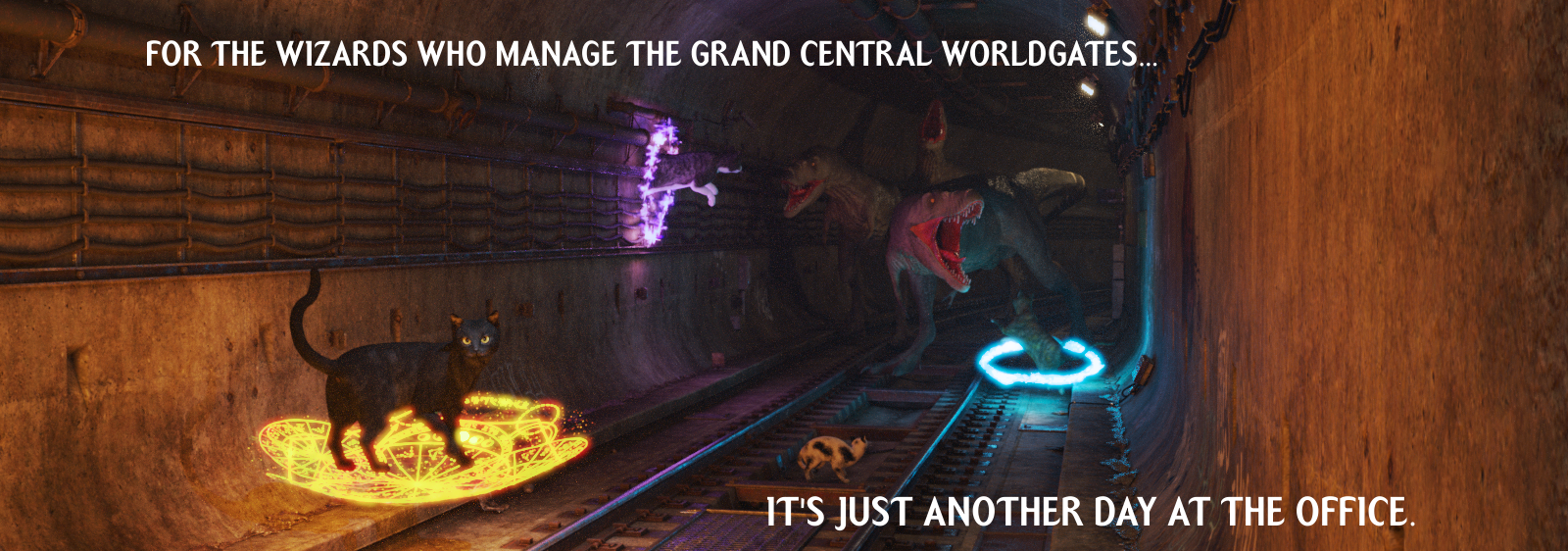 For the wizards who manage the Grand Central worldgates... it's just another day at the office.