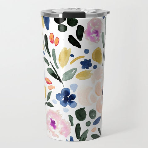 Floral travel cup.