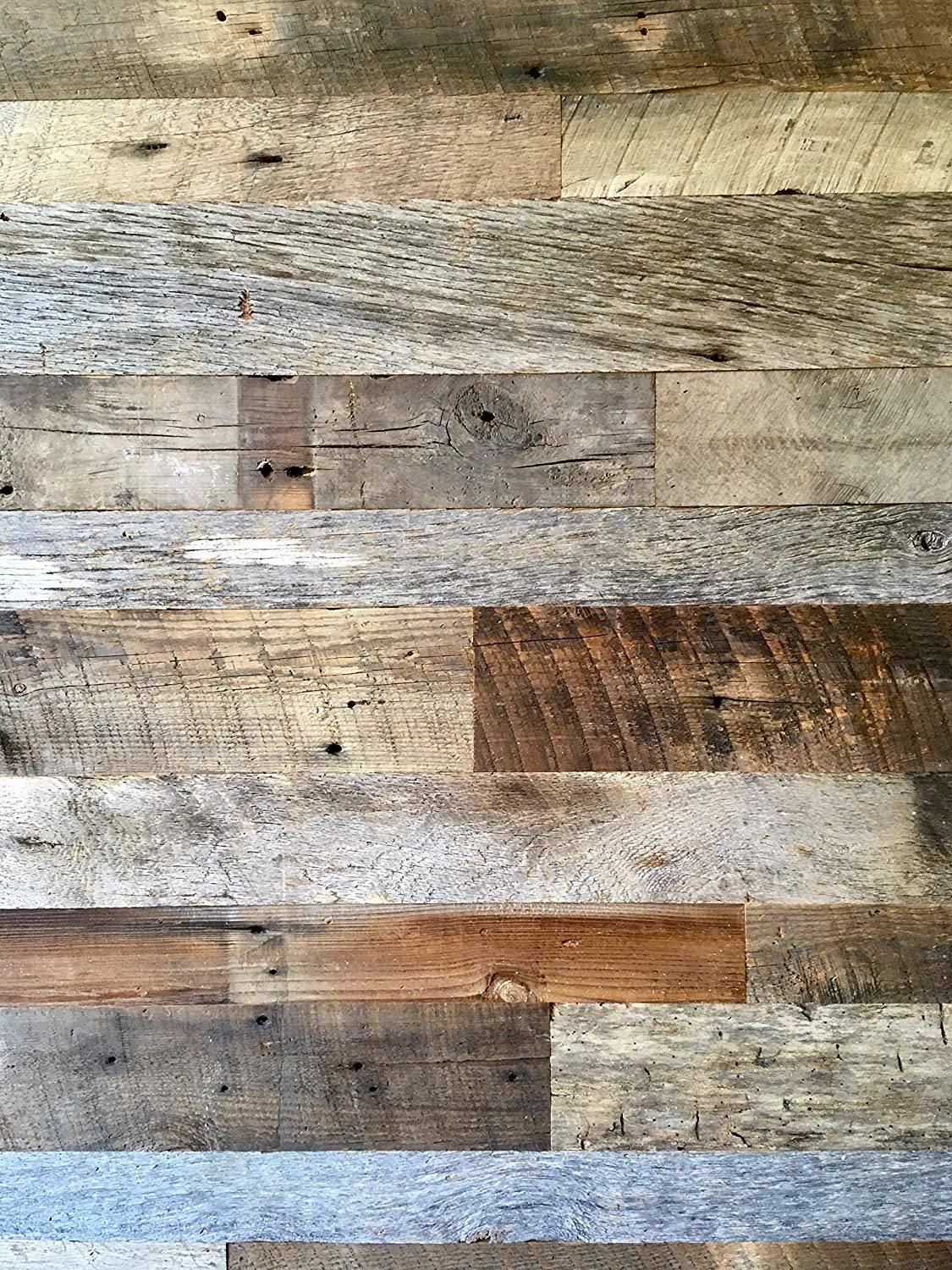 Premium Vintage Reclaimed Barn Wood Kit (10 sq. ft. bundle)