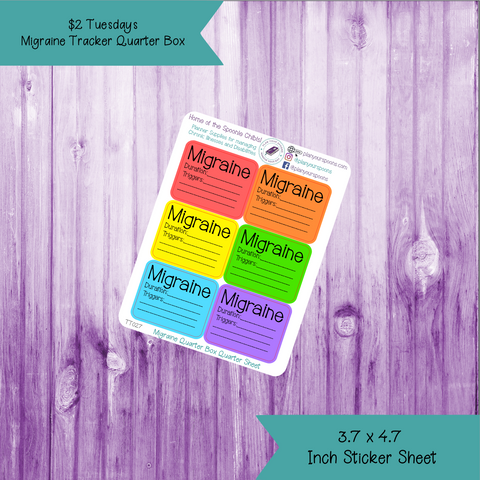 $2 Tuesday Migraine Tracker Half Box