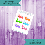 $2 Tuesday Nutritionist Appointment Stickers