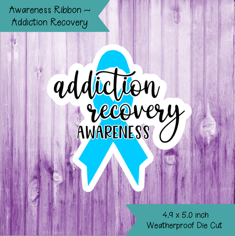 Awareness Ribbon ~ Addiction Recovery