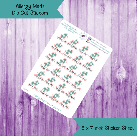 Allergy Meds Die Cut Stickers