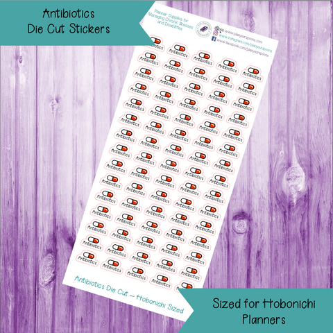Antibiotics Die Cut Stickers ~ Hobonichi Weeks Sized