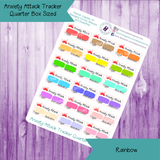 Anxiety Attack Tracker ~ Quarter Box Sized