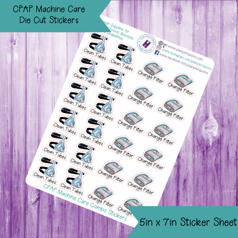 CPAP Care Die Cut Stickers