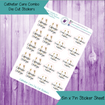 Catheter Care Die Cut Stickers