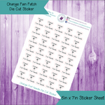 Change Port Needle Die Cut Stickers