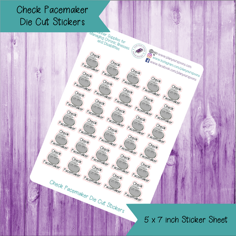 Check Pacemaker Die Cut Stickers