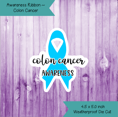 Awareness Ribbon ~ Colon Cancer