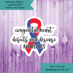 Awareness Ribbon ~ Congenital Heart Defects and Disease