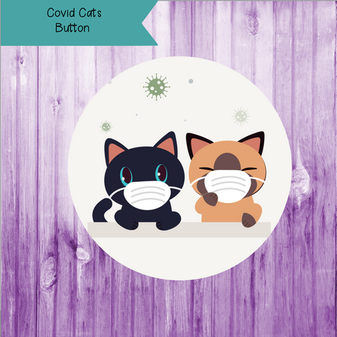 Covid Cats Button