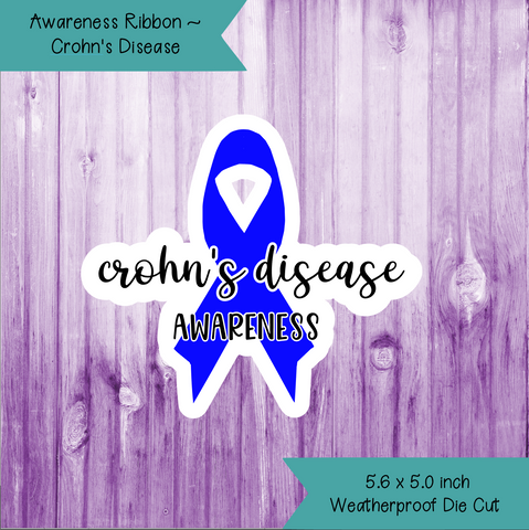 Awareness Ribbon ~ Crohn's Disease