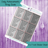 Daily Achievements Self Care Tracker
