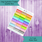 Daily Hydration Quarter Box Stickers