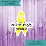 Awareness Ribbon ~ Endometriosis