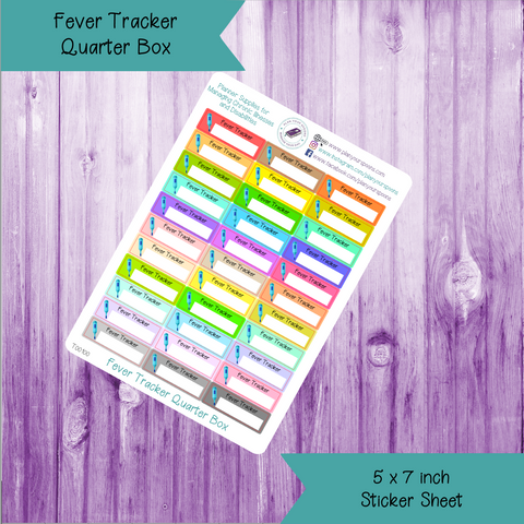 Fever Tracker Quarter Box Stickers