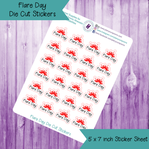 Flare Day Die Cut Stickers