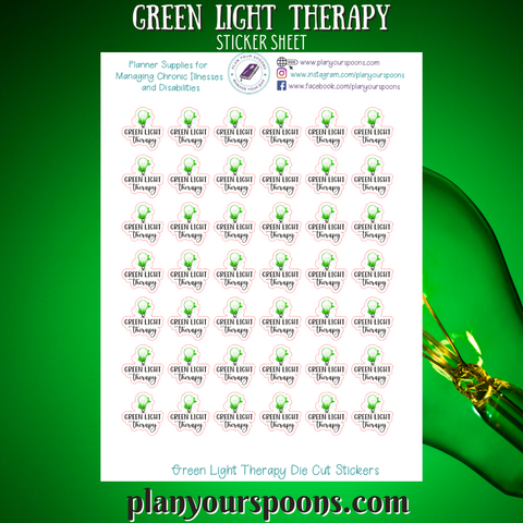 Green Light Therapy Die Cut Stickers