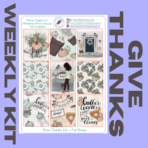 Give Thanks Weekly Kit