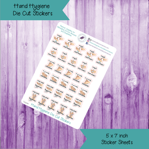 Hand Hygiene Die Cut Stickers