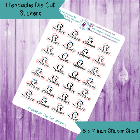 Headache Die Cut Stickers