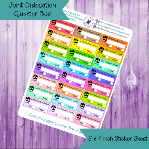 Joint Dislocation Quarter Box Tracker