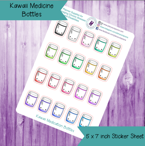 Kawaii Medicine Bottles