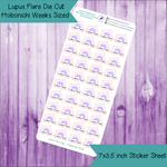 Lupus Flare Day Die Cut Stickers ~ Hobonichi Weeks Sized