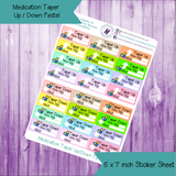 Medication Taper Up/Down Tracker