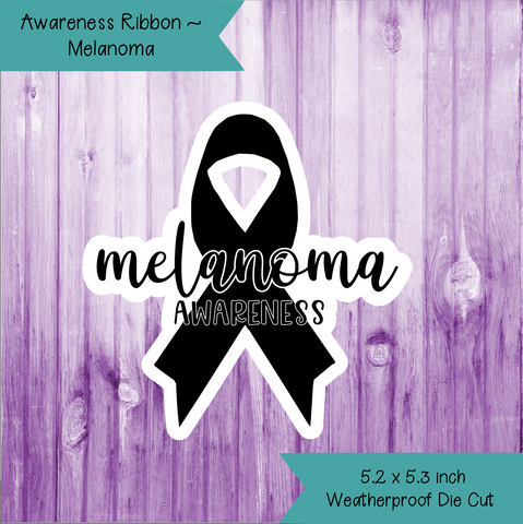 Awareness Ribbon ~ Melanoma