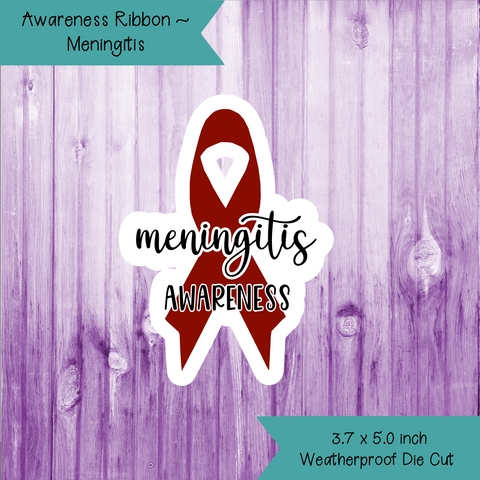 Awareness Ribbon ~ Meningitis