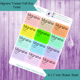 Migraine Tracker Half Box Sized