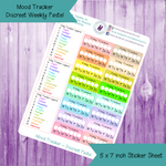 Mood Tracker Discreet Weekly with Key